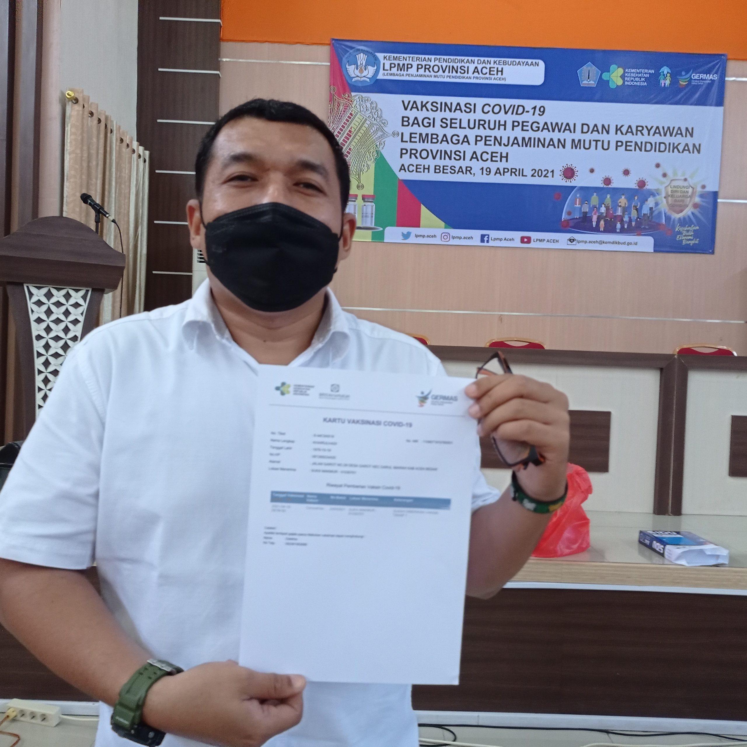 LPMP Provinsi Aceh Selenggarakan Vaksinasi COVID-19 Bagi ...