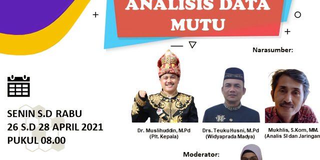 LPMP Provinsi Aceh Selenggarakan Kegiatan Analisis Data Mutu Tahun 2020 Jenjang Pendidikan Dasar Dan Menengah